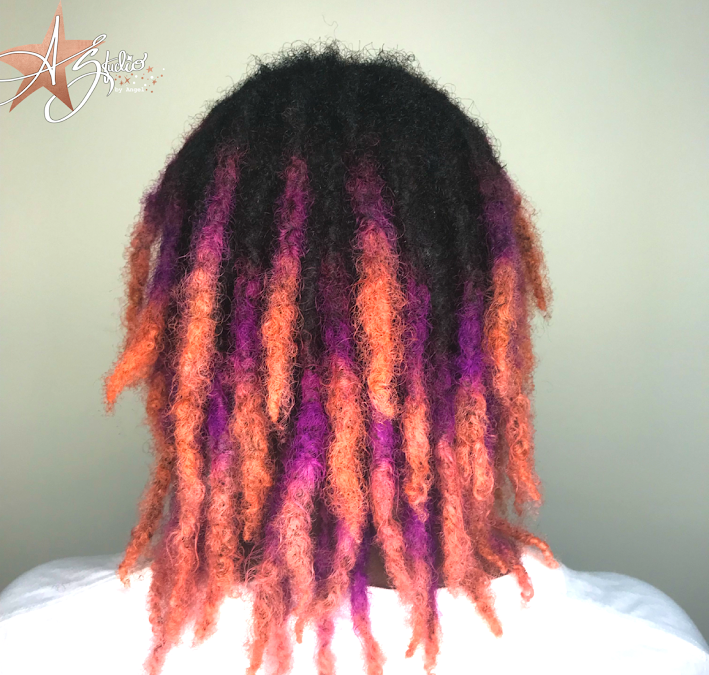 Dreadlocked and loaded with color